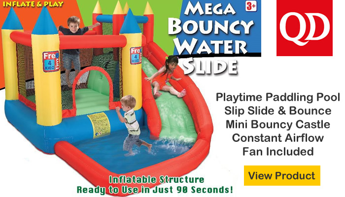 Garden inflatable Mini Bouncy Castle Water Slide with Paddling Pool