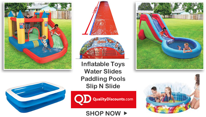 Inflatable garden toys slip n slide water slides paddling pools under £200